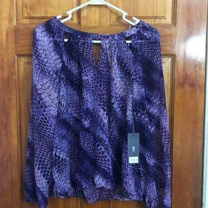 Lavender sheer snake print shirt!!!